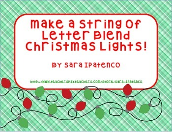 Practice Phonics Letter Blends With Christmas Lights!