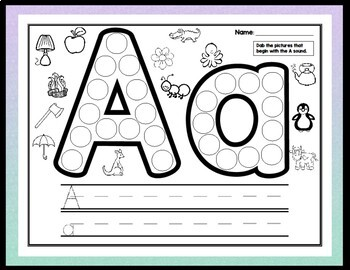 Alphabet Activities with Daubers {26 Pages A-Z!}