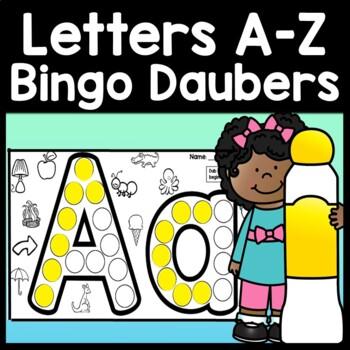 Alphabet Activities for Kindergarten with Bingo Dabbers {26 Pages A-Z!}