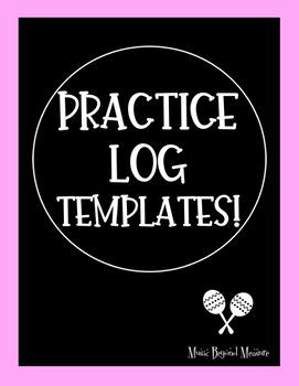 Practice Log Templates