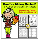 Addition and Subtraction Worksheets: Practice Makes Perfect