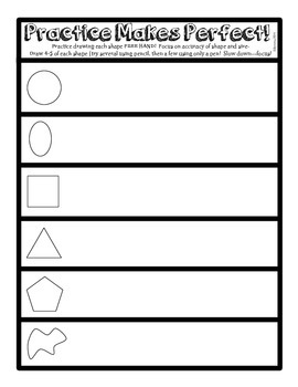 Practice Makes Perfect Art Drawing Worksheet