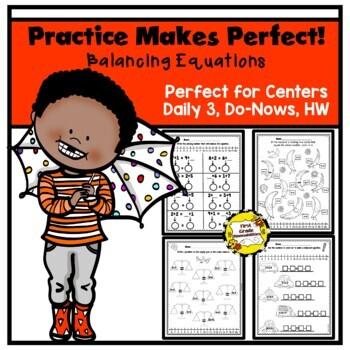 Balancing Equations Game & Worksheets   Teachers Pay Teachers