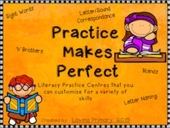 Practice Makes Perfect - Basic Literacy Stations to Practice Multiple Skills
