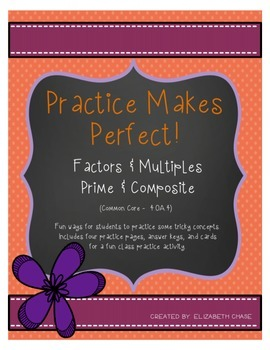 Practice Makes Perfect - Factors, Multiples, Prime, and Composite 4.OA.4