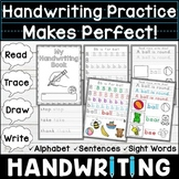 Handwriting Practice for Kindergarten and 1st | Worksheets and Dolch Sight Words