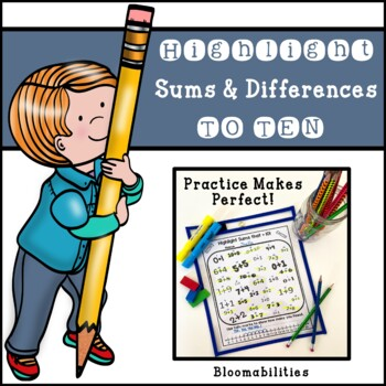 Practice Makes Perfect: Highlight Sums and Differences to 10