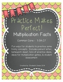 Practice Makes Perfect - Multiplication Facts