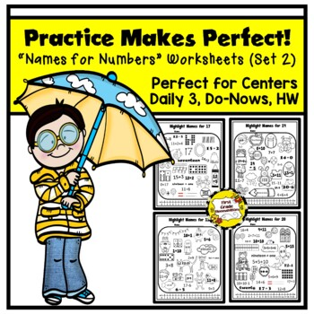 Practice Makes Perfect: Names for Numbers Worksheets 11-20 (SET 2)