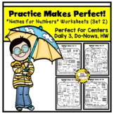 Practice Makes Perfect: Names for Numbers Worksheets 11-20
