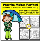 Practice Makes Perfect: Names for Numbers Worksheets (Set 1)
