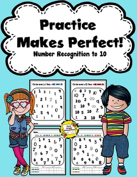 Practice Makes Perfect: Number Recognition to 10 Funsheets