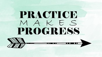 Practice Makes Progress Poster