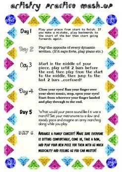 Practice Mashup - Creative piano practice tasks