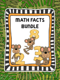 Practice Math Fact Fluency Timed Test Worksheets Add Subtract Multiply Divide
