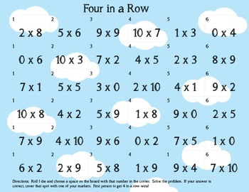 Practice Multiplication of 0,1,2,5,9,10 Game