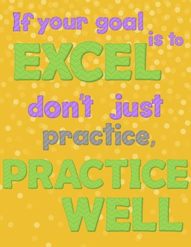 Practice Music Well Poster