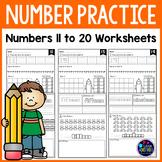 Number Sense Worksheets   Number Practice 11 to 20