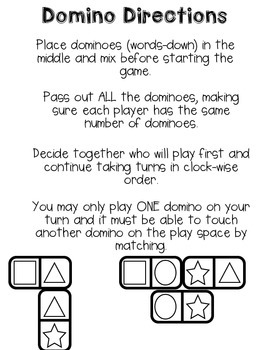 Practice Number Words with Dominoes