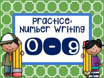 Practice Number Writing: 0-9