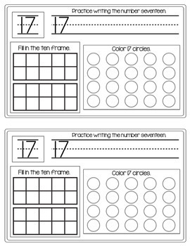 Practice Numbers 0 -15