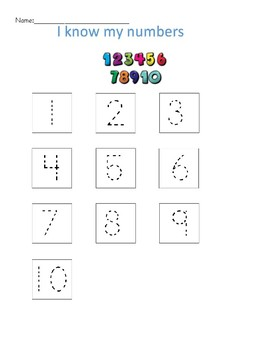 Practice Numbers 1-20