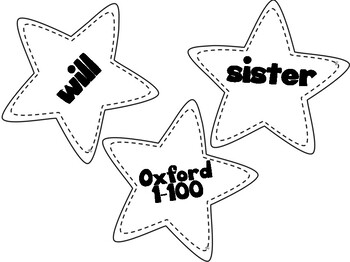 Practice Oxford Sight Words with this Star Game