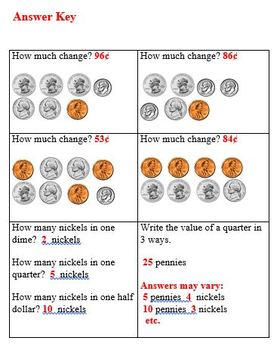 Practice Packet on Money