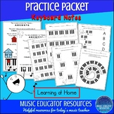 Practice Packet: Keyboard Notes (Reproducible)