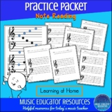 Practice Packet: Grand Staff Note Reading (Reproducible)