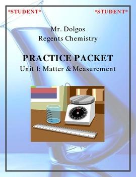 NGSS Regents Chemistry Practice Packet - Unit 1: Matter & Measurement
