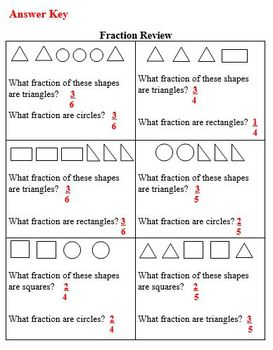 Practice Packet on Fractions