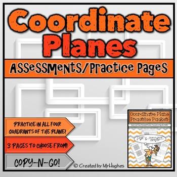 Coordinate Planes {Set #1}- Practice Packets