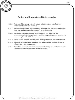 Ratios and Proportions - Common Core Math Targeted Assessments
