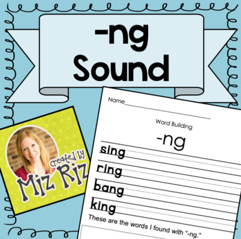 """Practice Page for """"ng"""" Sound!"""