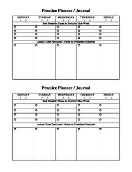 Practice Planner / Practice Journal