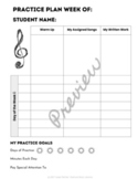 Practice Planning Sheet for Private Music Students