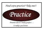 Practice Poster Damask Red