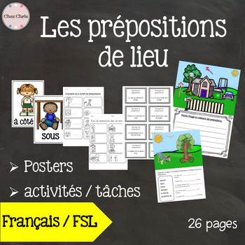 Classroom Posters and Activities - Prepositions in French