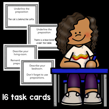 Practice Prepositions: posters and activities