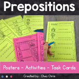 Prepositions of Place - Posters, Activities and Task Cards