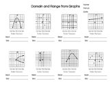Practice Problems: Finding Domain & Range from Discrete & Continuous Graphs