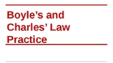 Practice Problems for Boyle's and Charles' Laws