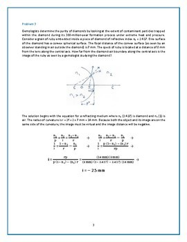 Practice Problems on Image Formation