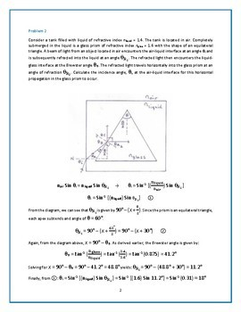 Practice Problems on Reflection & Refraction of Light