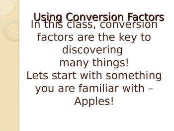 Practice Problems using Conversion Factors (chemistry dimensional analysis)