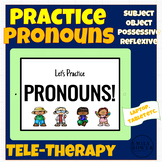Practice Pronouns Boom Cards - Speech Language Therapy SLP