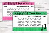 Practice Punch Card, Music Reward Chart, Music Teacher Mat