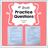 Practice Questions for 4th Grade (Wonders, Unit 1)