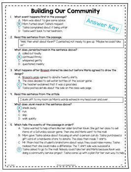 Practice Questions for 5th Grade (Wonders, Unit 1) - Freebie
